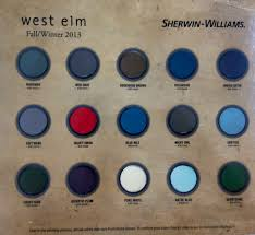 Sherwin Williams - West Elm | Paint Colors | Fall/Winter 2013 ... 49 Best Pottery Barn Paint Collection Images On Pinterest Colors Best 25 Barn Colors Ideas Favorite Colors2014 It Monday Sherwin Williams Jay Dee Vee Popular Custom Color Pallette To Turn A Warm Home In Cool