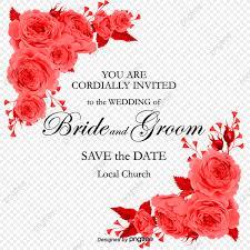 Rosa Roja Diagonal Decoracion Carta De Invitación Vector De