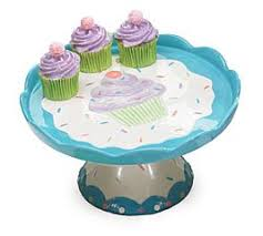Whimsical Cupcake Pedestal Cake Plate Stand For Kitchen Decor And Party