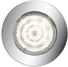 philips mybathroom led badezimmer einbauspot dreaminess 1 flammig rund chrom