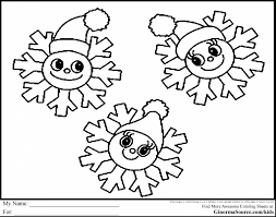 Outstanding Printable Snowflake Coloring Pages With Snow And White