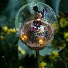 disney outdoor garden decor kmart com mickey mouse solar stake