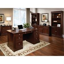 Sauder Shoal Creek Desk Jamocha Wood by Sauder Palladia Executive Desk Multiple Finishes Walmart Com