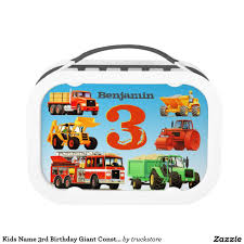 100 Fire Truck Lunch Box Kids Name 3rd Birthday Giant Construction S From