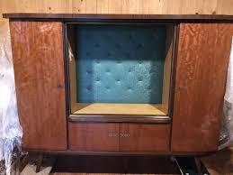 schrankwand vitrine wohnzimmer buffet 50er 60er retro alt