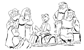 Boy Jesus In The Temple Coloring Page Free