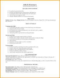 Abilities Resumes Examples Skills Technical Qualification In Resume Skill List