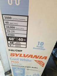 t12 48 inch fluorescent bulbs 6 new sylvania 24400 6 home
