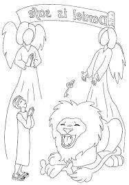Full Image For Daniel And The Lions Den Coloring Pages