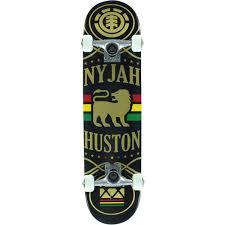 element skateboards nyjah huston shine complete skateboard 7 75
