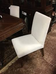 Set of 5 Cream Upholstered Accent Chairs