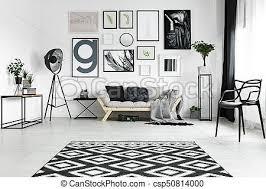 teppich auf dem boden schwarzer und weißer teppich liegt