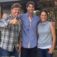 House Hunter Participant David Ridley Pictured With Hosts Chip And Joanna Gaines Of