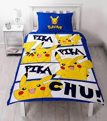 Pokemon Go Pikachu Action Panel Single Bed Duvet Quilt Cover Set