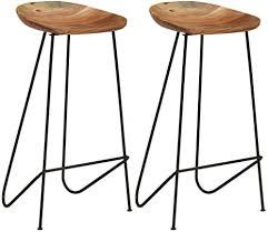 vidaxl 2x akazie massivholz barhocker barstuhl küchenhocker tresenhocker thekenhocker bistrohocker bistrostuhl hocker stuhl küche bar 41x36x76 cm