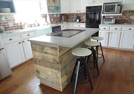 Kitchen Diy Rustic Pallet Wall Paneling Wood Island Ideas Fascinating