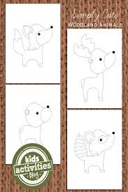 FREE Woodland Animal Coloring Pages For Kids
