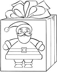 Santa Gift Coloring Page