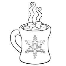 Coloring Sheet Of Hot Chocolate During Winter Climate