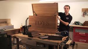 solid oak personalised wooden toy boxes from