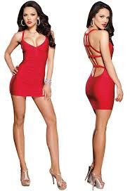 amazon com red low back mini dress extra large