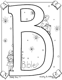Bible Coloring Page B Is For Drawing