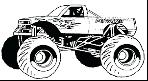 100 Monster Truck Coloring Book New Sheets Free