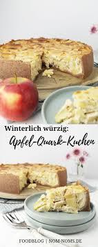 winterlich würziger apfel quark kuchen