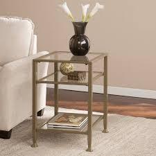 Walmart Metal Sofa Table by Southern Enterprises Lana Metal Glass End Table Matte Khaki