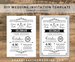 Diy Wedding Invite Templates