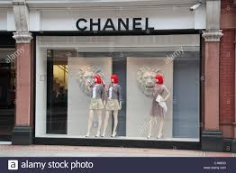 A Window Display Of The Chanel Fashion Shop On Sloane Street London SW1 England