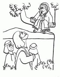 Zacchaeus Tree Coloring Page To Print
