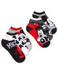 Macys Mickey Mouse Bathroom Set by Disney Women U0027s Mickey Mouse Stripes No Show 6 Pk Socks Handbags