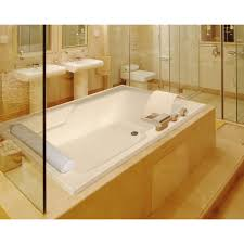 Home Depot Bathtub Surround by Bed U0026 Bath Pedestal Sink With Wall Mirror And Whirlpool Tub Also