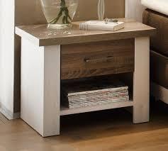 luca 1 schlafzimmer komplettset bett kleiderschrank set pinie weiß trüffel