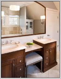 Bathroom Vanities With Matching Makeup Area by Best 25 Double Sink Vanity Ideas On Pinterest Double Sink