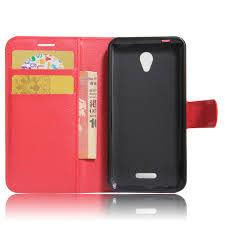 PU Leather Flip Stand Wallet Case Cover for