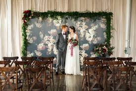 Bold Indoor Ceremony Backdrop