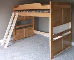 Floor Savers For Beds by Bedroom Varnished Maple Loft Bed Which Paired With Black