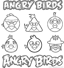Angry Birds Seasons Coloring Pages Bubbles Bomb Thinking Print