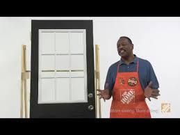 Masonite Patio Door Glass Replacement by Masonite Door Glass Installation Youtube