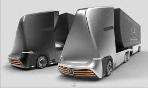 100 Mercedes Semi Truck Of The Future Autonomus EuroX