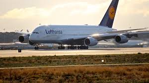 Lufthansa Airbus A380 800 Departure from Los Angeles LAX