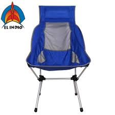 China EL Indio Portable Lightweight Folding High Back Camping Chair ... Outdoor High Back Folding Chair With Headrest Set Of 2 Round Glass Seat Bpack W Padded Cup Holder Blue Alinium Folding Recliner Chair With Headrest Camping Beach Caravan Portable Lweight Camping Amazoncom Foldable Rocking Wheadrest Zero Gravity For Office Leather Chair Recliner Napping Pu Adjustable Outsunny Recliner Lounge Rocker Zerogravity Expressions Hammock Zd703wpt Black Wooden Make Up S104 Marchway Chairs The Original Makeup Artist By Cantoni