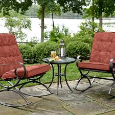 Kmart Jaclyn Smith Patio Furniture by Jaclyn Smith Cora 3pc Rocker Bistro Red Outdoor Living Patio