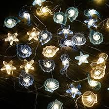 led lichterkette innen außen licht lichterketten beleuchtung batterie muschel seepferdchen seestern maritime strand vasen tisch dekoration garten bad