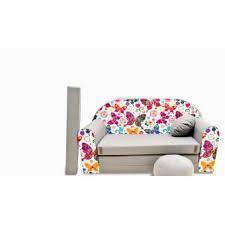canape enfant canape sofa enfant 2 places convertible gris papillons achat