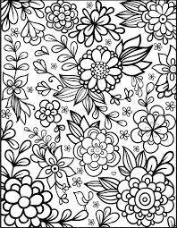 Adult Colouring Flowers Web Image Gallery Floral Coloring Pages