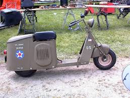 This Cushman Autoglide Is A Civilian Model Drafted Into The Army In World War II While Made Strictly Military Scooters Many Ordinary Motor