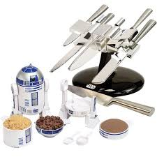 x wing knife block and r2d2 measuring cup wars kitchen ware dinner gift set